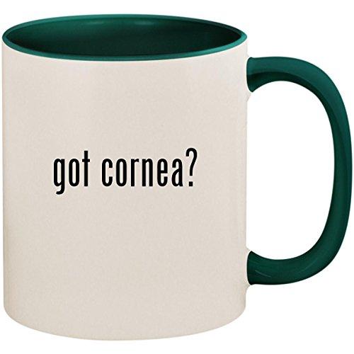 got cornea? - 11oz Ceramic Colored Inside and Handle Coffee Mug Cup, Green