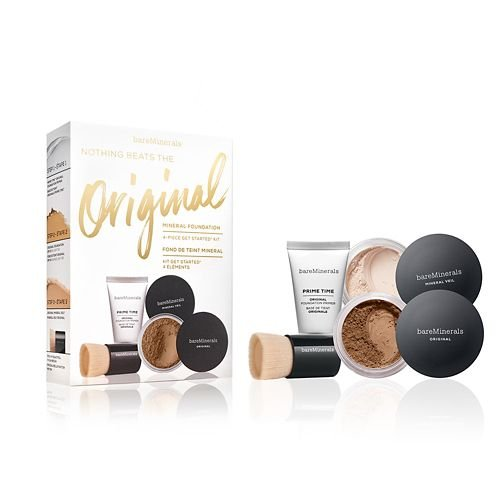 Bare Minerals Nothing Beats the Original Mineral Foundation 4-Piece Get Started Complexion Kit, Neutral Deep (Bare Escentuals Prime Time Original Face Primer)