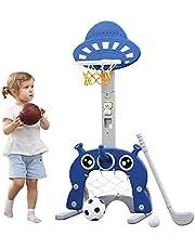 Basketbalhoepel voor kinderen   5 in 1 Sport Activiteitscentrum Verstelbare Easy Score Basketbal Hoop   Beste cadeau voor Kids Baby Peuter