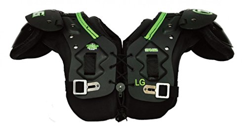 TAG Battle Gear II Youth Football Shoulder Pad TSP45 (T-Hook Lockdown Side Strap) Medium (Shoulder Sizing Pads Football)