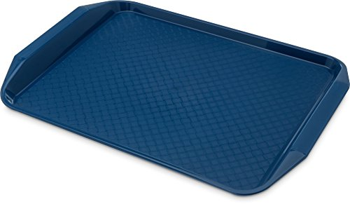 Carlisle CT121714 Cafe Handled Plastic Cafeteria/Fast Food Tray, NSF Certified, BPA Free, 17'' Length x 12'' Width, Blue (Pack of 24) by Carlisle (Image #8)