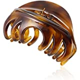 Rosette Large Chic Styling Hair Claw Clip Organic Glass Strong Holding Power Hair Clips Clamps Indoor Outdoor Hair Grip Hairpins Hairgrip for Women and Girls Hair Barrettes For Thick Hair