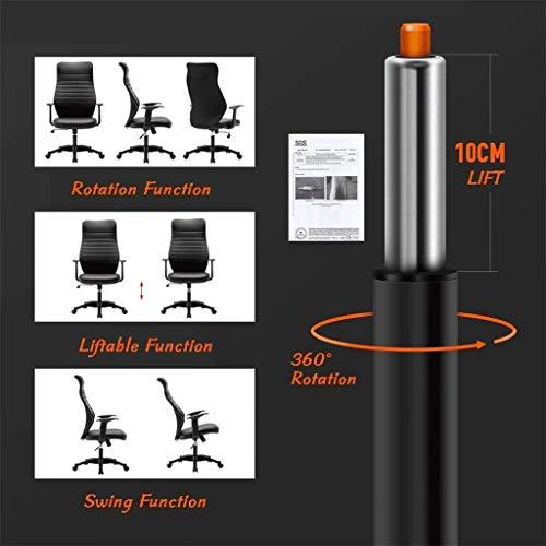 ZXL kontorsskrivbordsstol mitten av ryggen läder verkställande konferensuppgift stol justerbar svängbar stol med armar (svart)