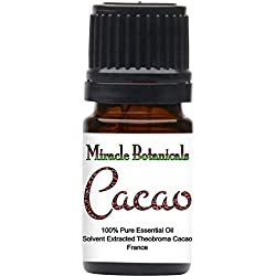 Miracle Botanicals Cacao Absolute Oil - Hexane Free Extraction - 100% Pure Theobroma Cacao - 5ml, 10ml, or 30ml Sizes - Therapeutic Grade - 5ml