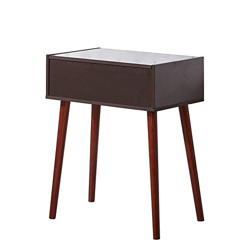 Facilehome Mirror Dressing Vanity Table Makeup Desk with Solid Legs Brown by Facilehome