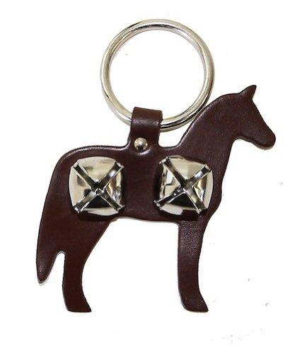 Leather Horse Bell Door Hanger - BROWN