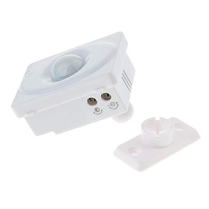 Sharplace Detector Infrarrojo Automático Ajustable de Interruptor de Sensor de Movimiento de Cuerpo de PIR Metrial
