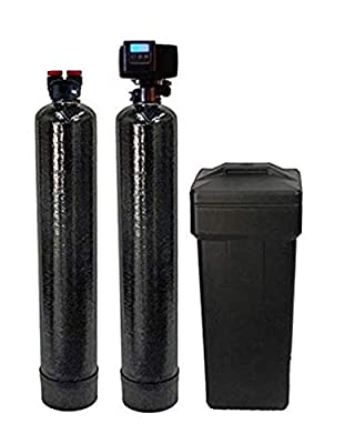 Fleck 5600SXT 48,000 Grain Water Softener with Upflow Carbon Filter