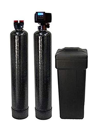 Fleck 56SXT-10% Combo Package Abundant Flow Built 5600SXT 48,000 Grain Water Softener with Upflow Filter (10% Resin with Carbon), Black