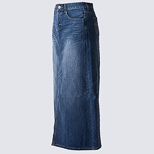 51df65dc84e40 Amazon.com  Women s Maxi Pencil Jean Skirt- High Waisted A-Line Long Denim  Skirts for Ladies- Blue Jean Skirt  Clothing