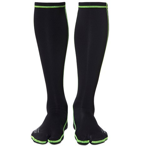 WETSOX Therms Split Toe Wetsuit Socks, Get In and Out of Wetsuit or Booties in Seconds, 1mm Neoprene for Extra Warmth