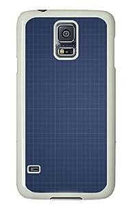 Samsung Galaxy S5 materials blue paper 5 PC Custom Samsung Galaxy S5 Case Cover White