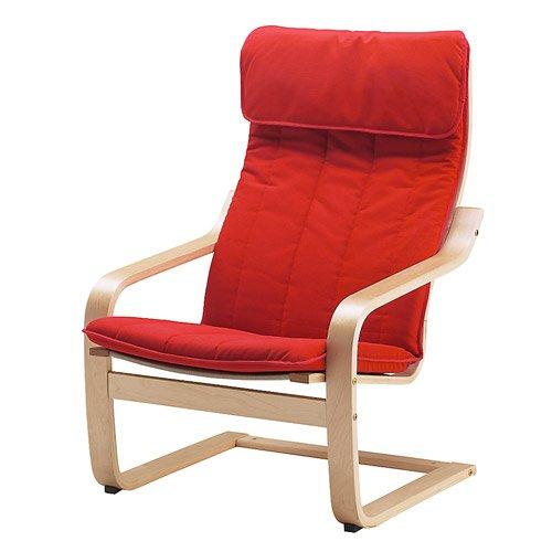 Ikea Poang Chair Cushion, Ransta Red (Cushion Only)