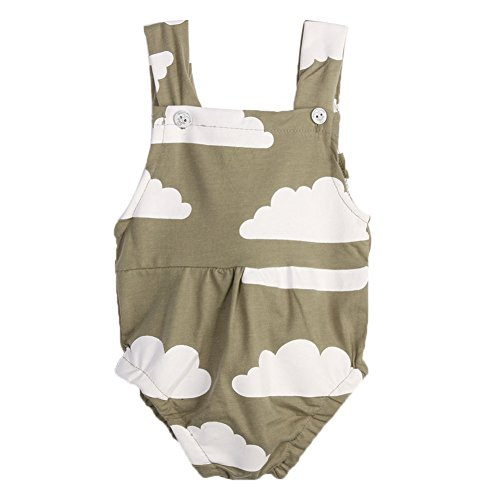Baby Romper ,Diamondo Baby Infant Toddler Sleeveless Rompers Cloud Print Jumpsuit Sunsuit(0-18 Months Baby )