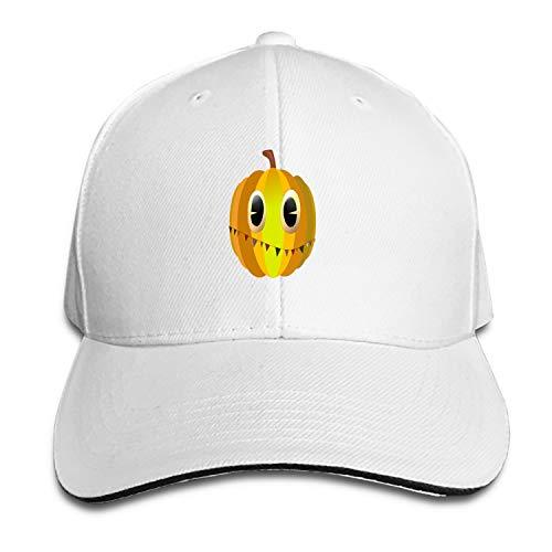 Peaked hat Halloween Pumpkin Pumpkins Food Yellow Vegetables Adjustable Sandwich Baseball Cap Cotton Snapback ()