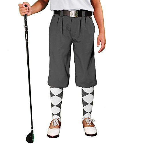 Golf Knickers Charcoal Youth 'Par 3' - Microfiber