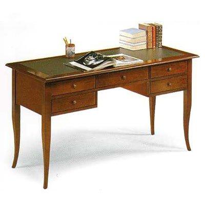 classic office desk. Executive Wooden Desk, Office Classic Leather Top Cm 130x65, H Desk