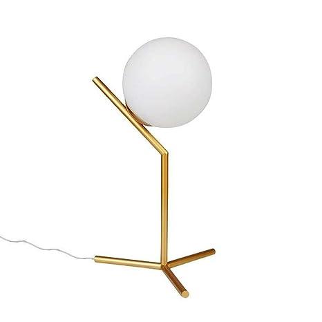 Dellemade - Lámpara de mesa con cristal, color dorado: Amazon.es ...