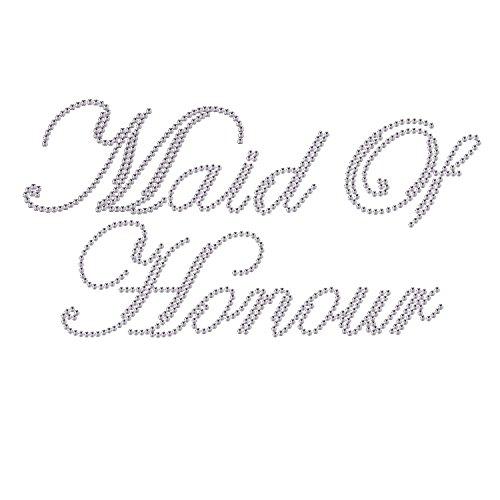 stone Iron on Bridal Wedding Marriage Transfer Motif Hot Fix Bling Applique DIY ()
