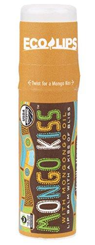 Organic Lip Balm Vanilla Honey - Eco Lips Mongo Kiss Display Center Lip Balm Organic, Vanilla Honey, 0.25 Ounce