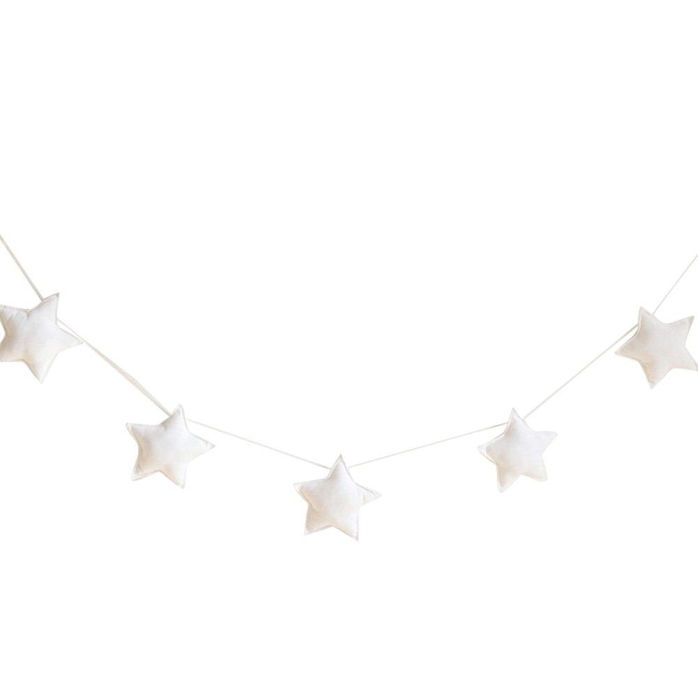 skgardeniamy 5pezzi nette stelle appeso ornamenti Banner Bunting Party Kid letto camera Decorazione, Lilla, Taglia unica