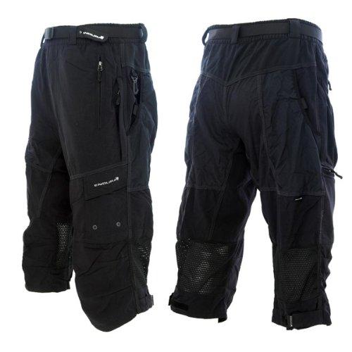 Endura Men's Men's Hummvee 3/4 Cycling Pants, Black, XX-Larg