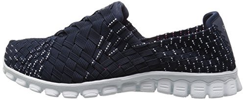 888222896898 - Skechers Sport Women's EZ Flex 2 Tada Fashion Sneaker, Navy/Silver, 10 M US carousel main 4