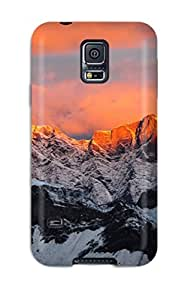 WVTKYRL1713tFDWa Tpu Case Skin Protector For Galaxy S5 Mountain Landscape With Nice Appearance