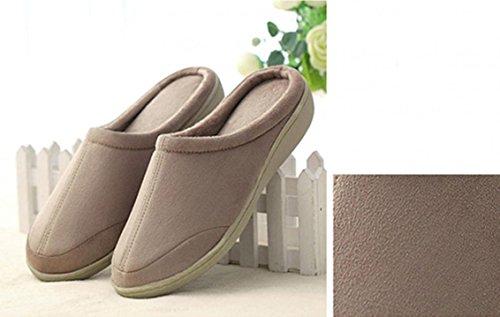 Heren Katoenen Indoor Huis Slippers Traagschuim Warme Winter Slippers Antislip Outdoor Schoenen Kerstcadeau Wit