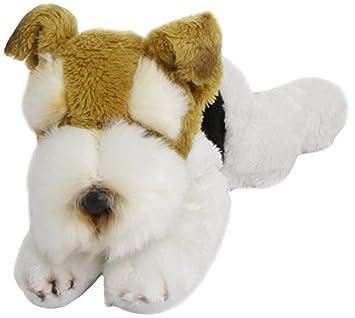 Yomiko 34267 Russ Berrie - Fox terrier de peluche tumbado (19 cm)