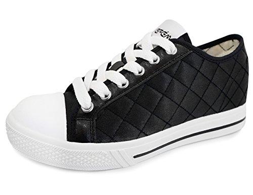 Chaussures Dascenseur De Femmes Mnx15 Taille Augmentation 1,9 Wize Noir (7 D (m) Us / 240mm (kor), Noir)