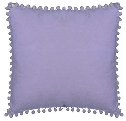 Emma & Violet by Westex Pom Lavender Sofa Cushion Decorative Throw Pillow cover, 18