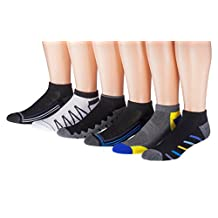 James Fiallo Mens 6 or 12 Pack Low Cut Athletic Socks