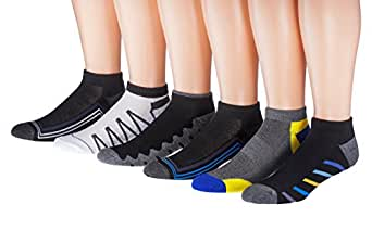 James Fiallo Mens 6-Pack Low Cut Sports Socks, Size 10-13, 2885-3