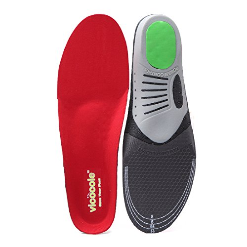 6acc98895c VOCOFA Flat Feet Insole Athlete Shoe Insole Arch Support Running Insert Red  Men