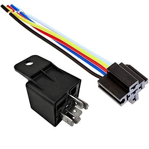 - 12V 30 40A SPDT Bosch Style Automotive Relays & 5 Wire Socket Harness (1)