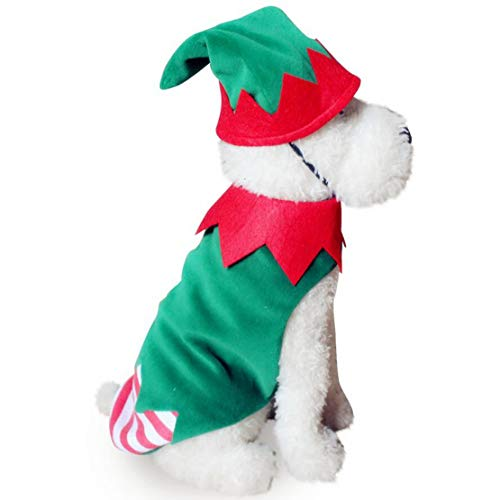 JHKSO Winter Halloween Christmas Dog Clothes Costume Warm Small Pet Doggy Coat Chihuahua Clothing]()