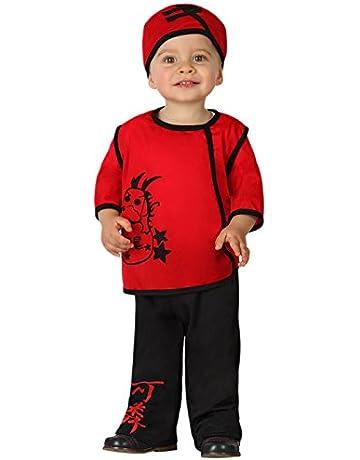 Atosa-23734 Guerrero Disfraz Chino, Color rojo, 12 a 24 meses (23734