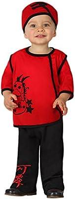 Atosa-23734 Guerrero Disfraz Chino, color rojo, 12 a 24 meses ...