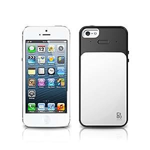 VERUS Premium Damda Card Slot Hard Cover Bar Case for Apple iPhone 5 /5S - White