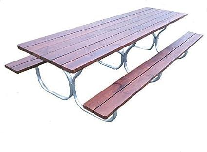 Amazon.com : Aluminum picnic table frame frame only~ Rosendale ...