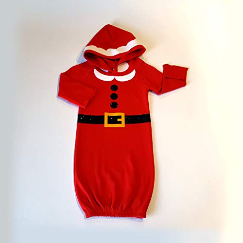 Newborn Santa Gown Coming Home Outfit 0-3 months Red Hooded Baby Gown Christmas Eve Baby Outfit Baby Dress Baby Boy Baby Girl