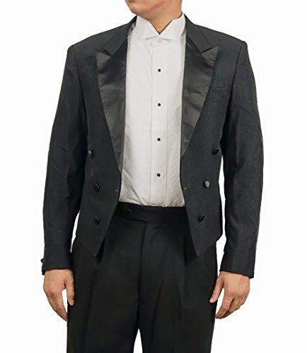 Jacket Tuxedo Peak Double Breasted (Men's Black Double Breasted Military Tuxedo Jacket By Broadway Tuxmakers (36 regular))