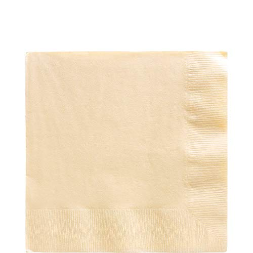 Big Party Pack Vanilla Creme Luncheon Napkins | Pack of 125 | Party Supply