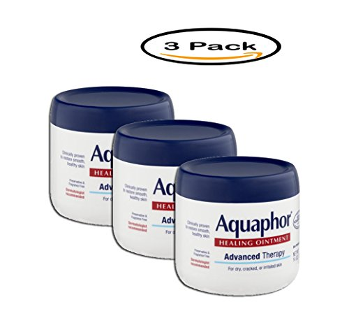 Price comparison product image PACK OF 3 - Aquaphor Advanced Therapy Healing Ointment Skin Protectant 14 oz. Jar