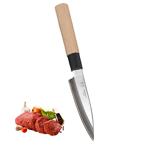 5 Inch Sushi Deba Knife, Janpanese Utility Kitchen Knife,Professional Japanese Sashimi Knife by Xin Hua (Hand Wasabi Wash)