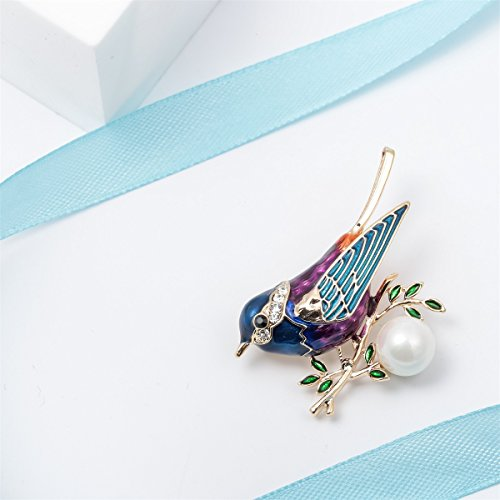 Szxc Jewelry Bird Collection Custom Accessories Wedding Brooches Pin Jewelry Gifts Women Teen by Szxc Jewelry (Image #2)