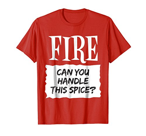 Mens Fire Shirt Hot Sauce Packet Taco Easy