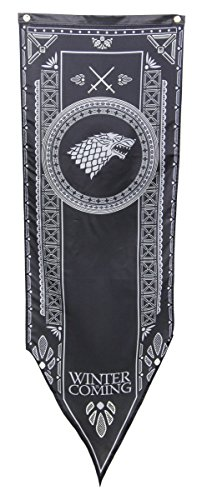 Calhoun Game of Thrones House Sigil Tournament Banner (19'' by 60'') (House Stark) by Calhoun