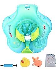Luchild Baby Schwimmring mit Pumpe, Baby Schwimmen Ring Baby Schwimmhilfe Kinder Schwimmtrainer für Kinder Von 6 Bis 26 Monaten